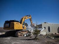 В поселении Адораим разрушают незаконно построенные дома