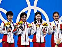 Олимпиада. Плавание. Китаянки установили мировой рекорд в финальном заплыве
