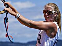 Олимпиада. RS:X. Катя Спичаков выиграла 12-ю гонку