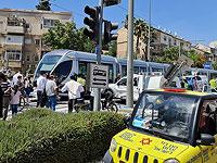 В Иерусалиме столкнулись трамвай и легковой автомобиль, тяжело травмирован мужчина