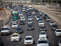 С начала года на дороги Израиля вышли 236525 автомобилей
