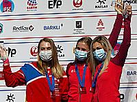 Слева направо: Юлия Каплина, Наталья Калуцка и Александра Мирослав