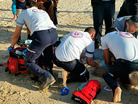 """На  одном из """"диких"""" пляжей Ашкелона едва не утонул 40-летний мужчина"""
