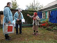 Надомное голосование в Омской области