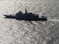 Французский фрегат в Средиземном море (иллюстрация)