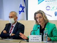 Генеральный директор министерства здравоохранения Израиля профессор Нахман Аш и глава департамента общественного здравоохранения в минздраве Шарон Эльрой-Прайс