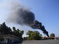 Пожар на нефтехранилище в Южном Ливане