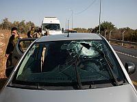 После нападения на автомобиль около деревни Азун. 55-я трасса (архив)