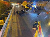 В результате ДТП на развязке а-Шива тяжелые травмы получил мотоциклист