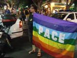 """Спонтанная демонстрация около клуба """"Бар Ноар"""". 2 августа 2009 года"""