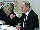 А.Б.Фрейндлих и В.В.Путин