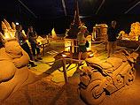 """170 """"чудес света"""" на фестивале песочной скульптуры в Бельгии"""