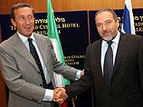 Авигдор Либерман с канцлером Австрии Вернером  Файманом