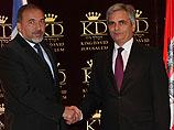 Авигдор Либерман с президентом итальянского парламента  Джанфранко Фини