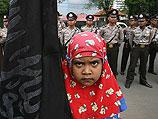 Во время исламистской акции протеста в Индонезии