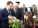 По случаю прибытия Медведева в ПА в Иерихоне состоялась торжественная церемония