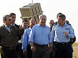 """Премьер-министр, министр обороны и начальник генштаба посетили пригород Ашкелона, где установлена одна из батарей системы ПРО """"Железный купол"""""""