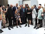 Шимон Перес на бьеннале в Венеции. 3 июня 2011 года
