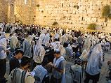 Около Стены плача в Иерусалиме