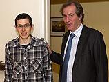Гилад Шалит и посол Франции в Израиле Кристоф Биго