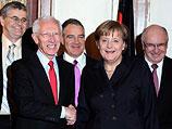 Стэнли Фишер и Ангела Меркель. Иерусалим, 1 февраля 2011 года