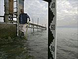 """Уровень воды в Кинерете поднялся выше нижней """"красной черты"""""""