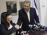 """Эйнат Вильф и лидер партии """"Ацмаут"""" Эхуд Барак"""