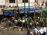 """После теракта-самоубийства около закусочной """"Рош а-Ир"""". Тель-Авив, 17 апреля 2006 года"""