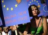 В Барселоне прошла демонстрация в поддержку независимости Каталонии от Испании, 11 сентября 2012 г.