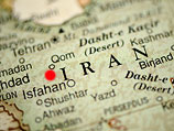 На карте Ирана обозначено примерно расположение ядерного объекта в Фордо