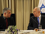 Яир Лапид и Шимон Перес. Иерусалим, 30 января 2013 года