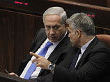 Глава правительства Израиля Биньямин Нетаниягу и министр финансов Яир Лапид