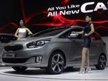 Kia Carens нового поколения на Сеульском автосалоне, 28 марта 2013 г.