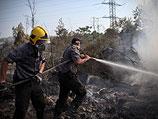 Пожарные тушат четыре очага возгорания на юге Израиля