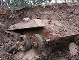 В Холоне во время строительных работ найден закопанный советский танк Т-34