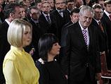 Катарина (слева), Ивана (супруга президента) и Милош Земан