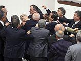 Драка в турецком парламенте. 15.02.2014