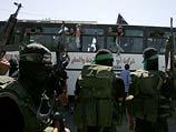 """Прибытие в Газу автобуса с террористами, освобожденными в рамках """"сделки Шалита"""". 18 октября 2011 года"""