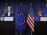 Джон Керри и Кэтрин Эштон. Женева, 17 апреля 2014 года