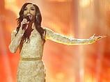 "Кончита Вур на сцене ""Евровидения 2014"". Копенгаген, 10 мая 2014 г."