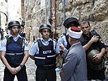 """Мухаммад Ахмад Хусейн у входа в мечеть """"Аль-Акса"""" в Иерусалиме"""
