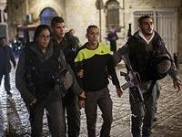 Задержание подозреваемого.  Старый город Иерусалима, 24 ноября 2014 года