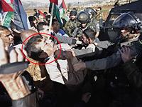 Зиад Абу Эйн во время столкновения с пограничниками. 10 декабря 2014 года
