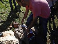 Зиад Абу Эйн после столкновения с пограничниками. 10 декабря 2014 года