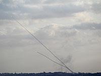 Испытания оружия в Газе: залп из десяти ракет