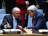 Госсекретарь США Джон Керри и глава МИД Франции Лоран Фабиус