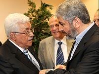Председатель ПНА Махмуд Аббас и глава политбюро ХАМАС Халид Машаль