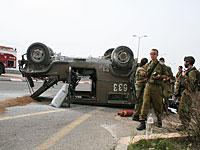 Авария армейского джипа на границе с сектором Газы: пострадали четверо военнослужащих