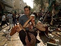 На месте теракта в Иерусалиме. 1997 год