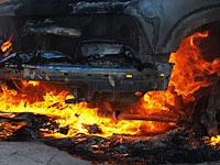 В Нетании взорван автомобиль, никто не пострадал